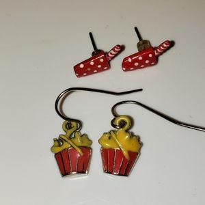 True 1980s vintage French fry & milkshake earrings